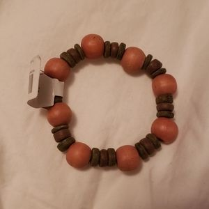 Pink and brown bracelet